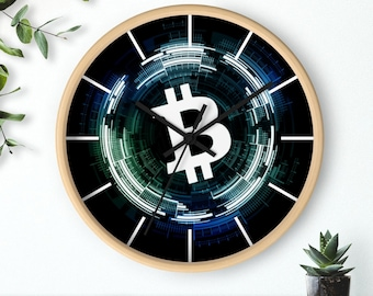 BITCOIN Crypto Wall clock- Perfect Gift For The Bitcoin Him & Her