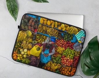 Market Day Peru- Laptop Case