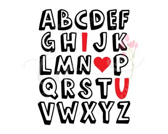 Abc I Love You Svg Etsy