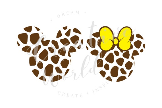 Mickey Head With Giraffe Print Svg Disney Safari Shirt Svg Etsy
