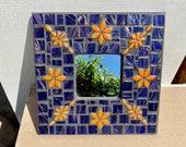 Mosaic Art Mirror, Colourful artistic, Flowers Wall Art. Artwork. Decoration. Flowers. Decor. Pretty. Art. Wall Mirror