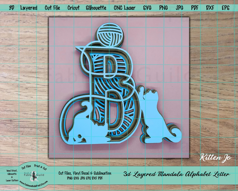 Download 3D Mandala SVG Layered Cricut Letter Cricut Cat Cut File ...