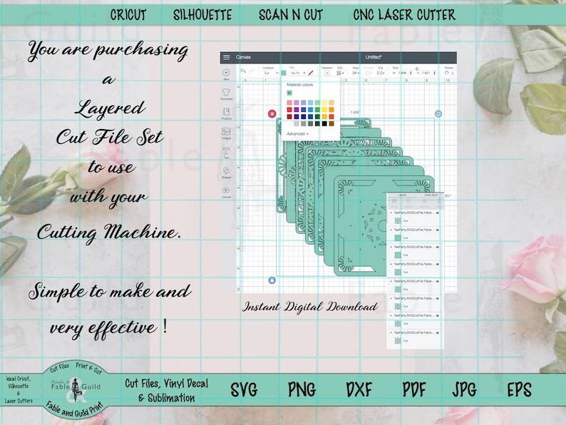 Download 3D SVG Files Layered Monogram SVG Cricut Mandala Cut File ...