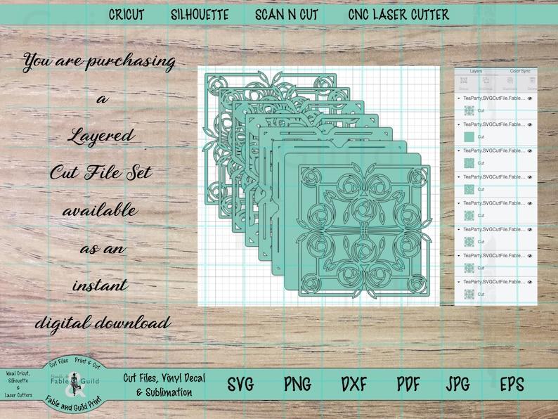 Download 3D multi Layered Cricut SVG Cut File Cricut Mandala ...