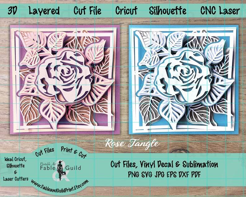 Download 3D Multi Layered Cricut Cut File Cricut SVG Rose Mandala ...