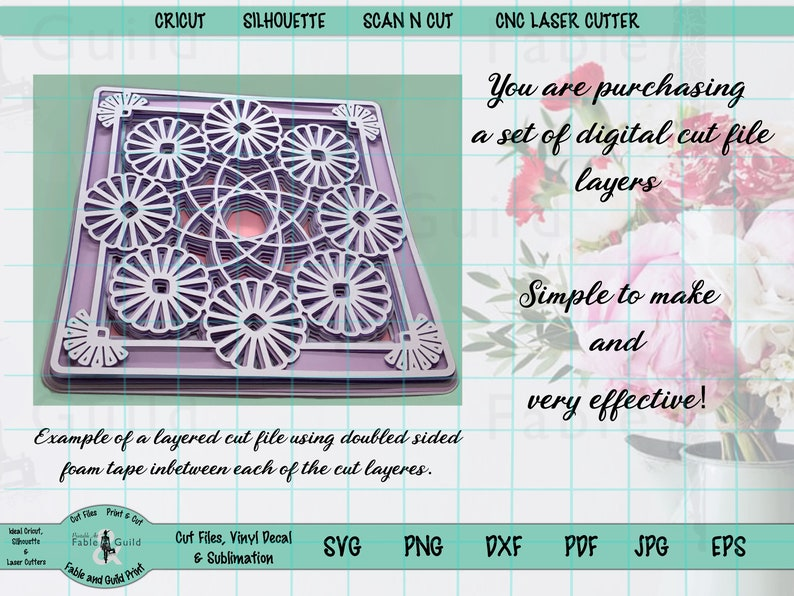 Download 3D Multi-Layer Mandala Cricut SVG Cut File Letter Cricut ...
