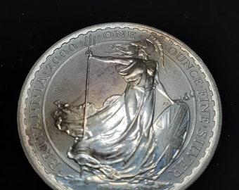 2013  Britannia  Great Britain  958  1 ounce Fine Silver Coin Lot# 744 Reg 49