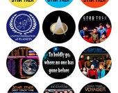 Star Trek Bottle Cap Images precut 15pc