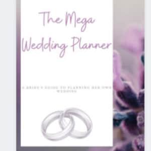 honeymoon planner wedding planner The Mega Wedding Planner Binder,Coral Rose wedding planning guide wedding planning book seating chart