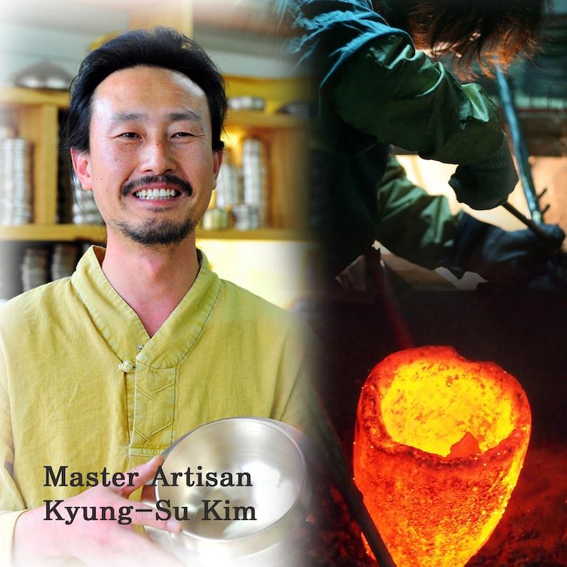 Artisan Kyung-Su Kim Large NoodleSalad Bowl Makguksu Bangjja Yugi Korean Traditional Dinnerware for Royal Court Cuisine