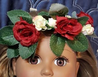 Head wreath for 18 inch doll America Girl, Our Generation,  Madame Alexander, Disney, et al