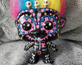 Sugar Skull Catrina decoration for dia de los muertos troll #11