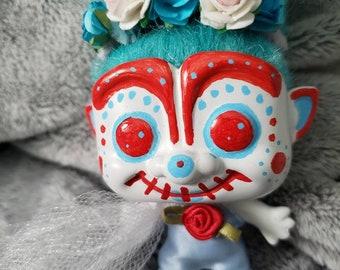 Sugar Skull Catrina decoration for dia de los muertos troll #9