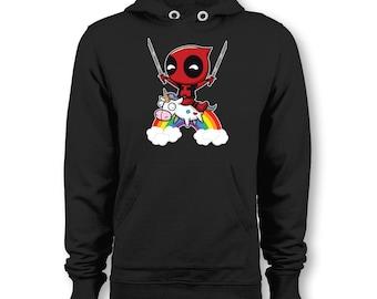 b40f01fde Deadpool Unicorn Funny Parody Hoodie