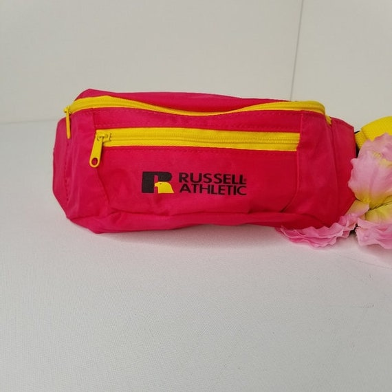 Vtg Russell Athletic 80s Fanny Pack Neon 80s Glam