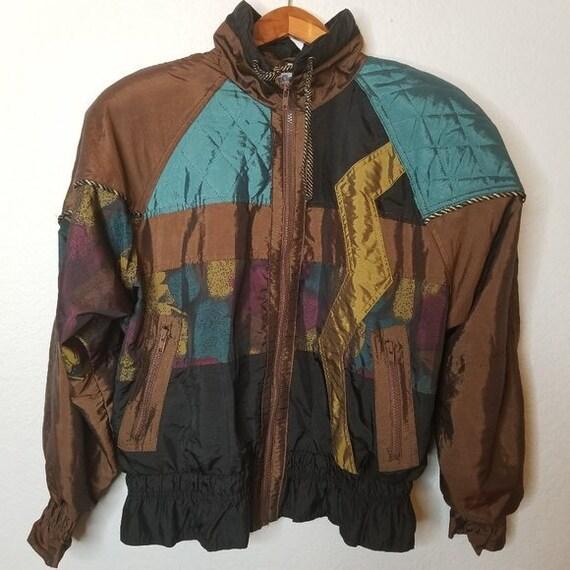 Vintage 80s Clipper Bay Wind Breaker Jacket Made i