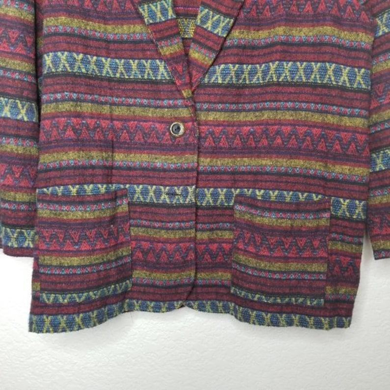 Vintage 80s Oversized Tapestry Coat Winter Jacket Blazer Fall  Jacket