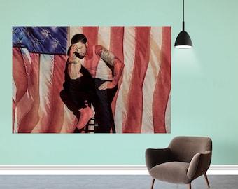 "Curtain Call The Hits Eminem Album Poster Rapper Art Print 12x12/"" 24x24/"" 32x32"
