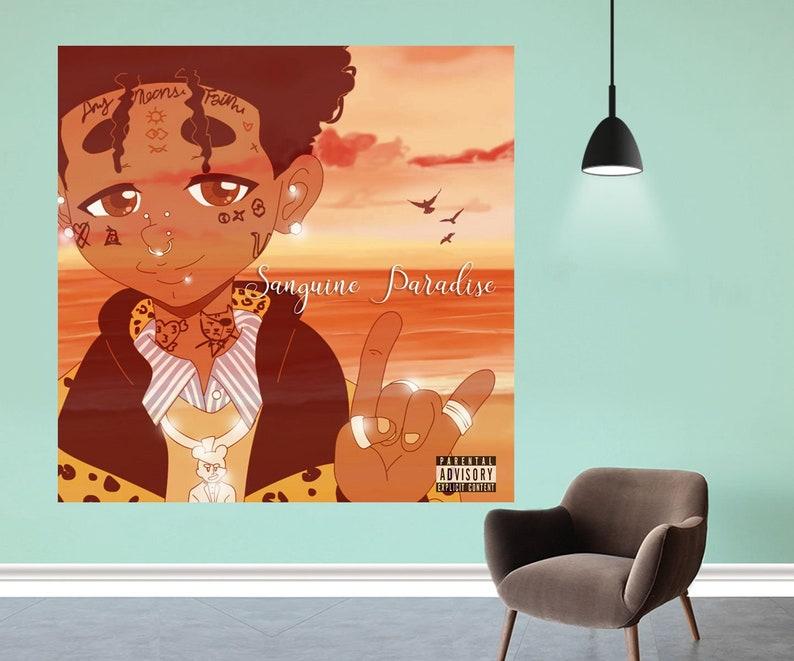 Lil Uzi Vert Sanguine Paradise Poster 2019 Music Album Cover Art Silk  Fabric Cloth Print Decor - Size 12x12