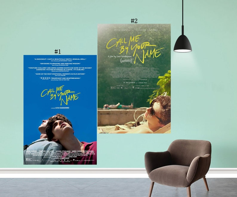Call Me By Your Name Movie Poster Luca Guadagnino Film Art Silk Cloth Print  Decor - Size 13x20