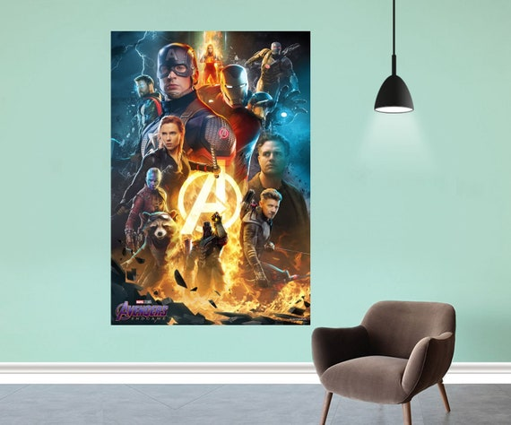 "Avengers Infinity War End Game Poster Marvel Comics Art Silk Print 24x36/"" 27x40/"""