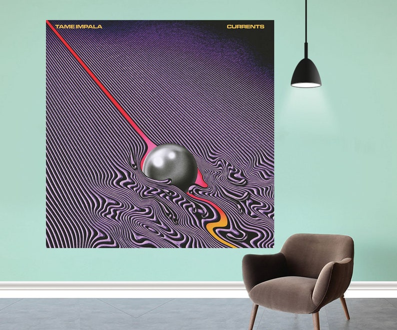 Tame Impala Psychedelic Rock Currents Music Album Print Poster Wall Decor