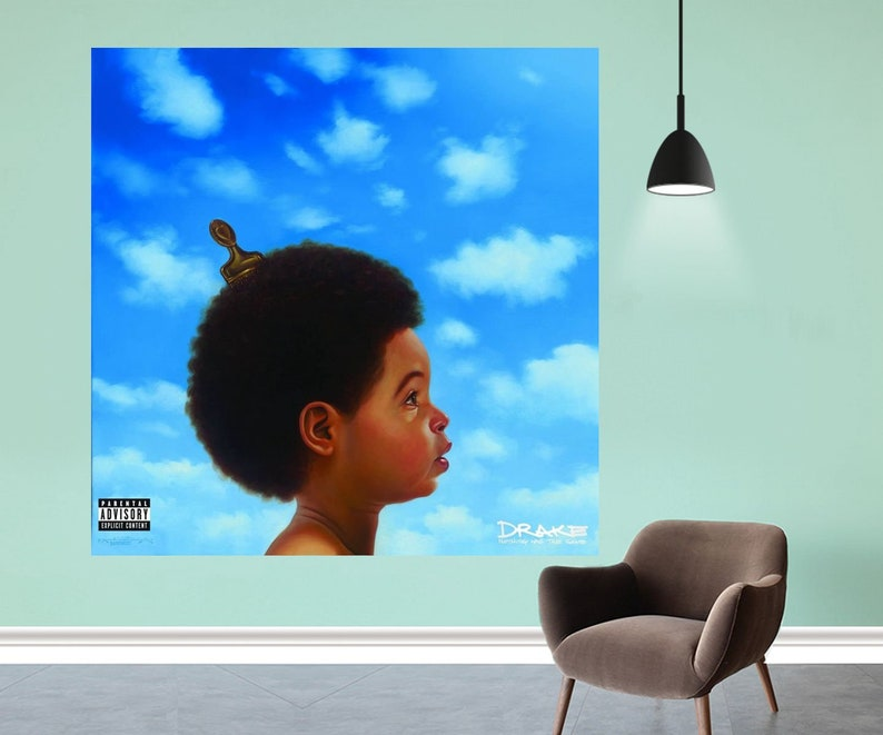 Drake Nothing Was The Same Poster Music Cover Album Art Silk Fabric Cloth  Print Decor - Size 12x12