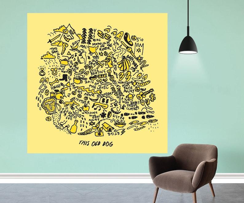 "Mac DeMarco This Old Dog Indie rock Album Poster Art Print 12x12/"" 24x24/"" 32x32/"""