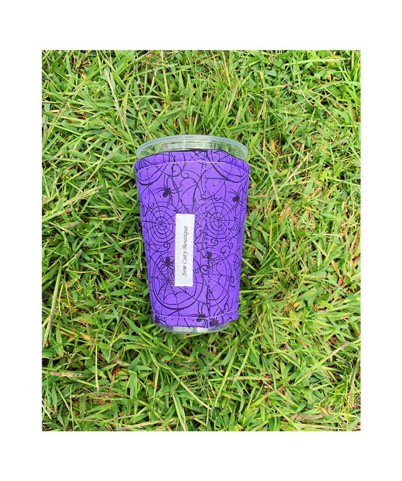 Purple Spiders Cup Cozy image 0