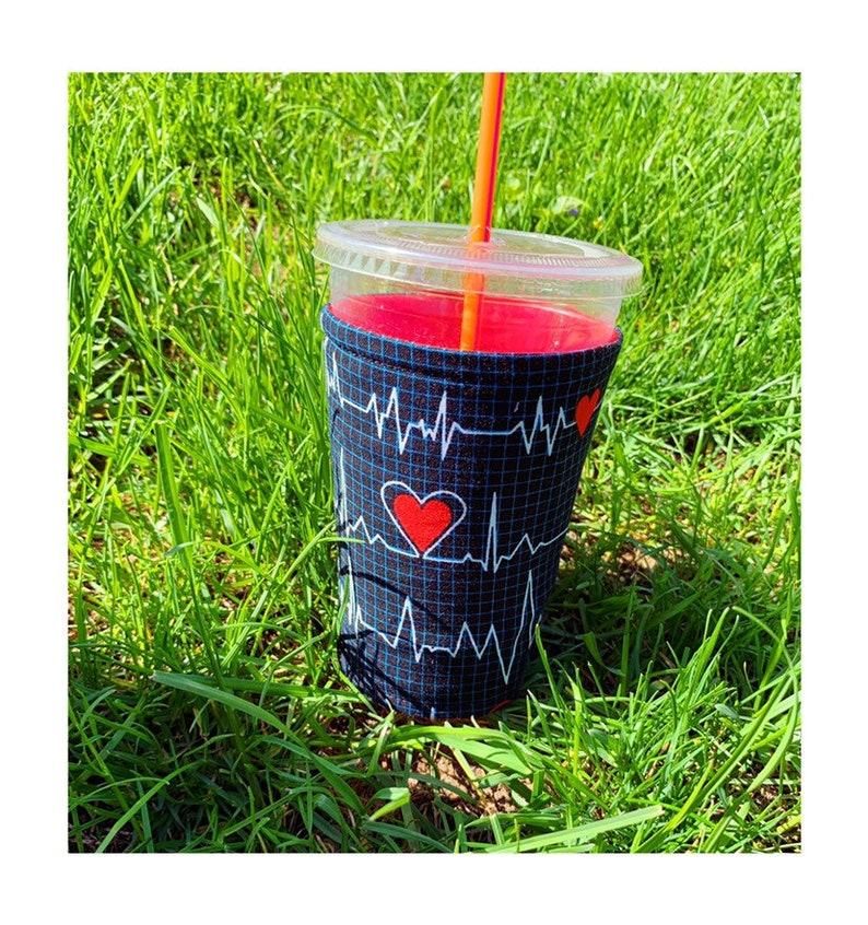 Heart Rhythm Cup Cozy image 0