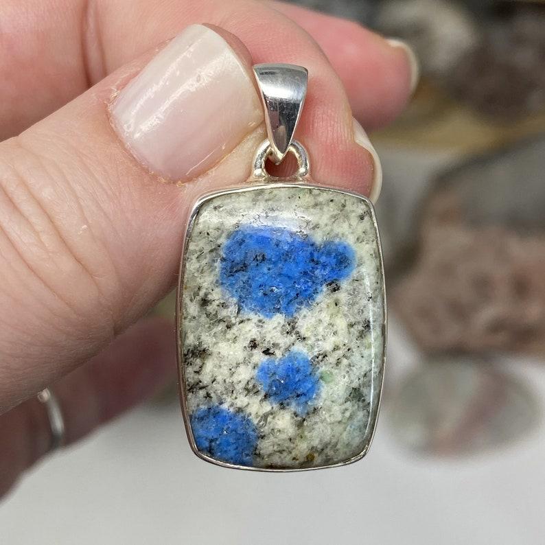 K2 Pendant K2 stone azurite stone azurite K2 granite stone granite K2 azurite stone K2 Jewelry jewelry K2 k2 azurite jewelry