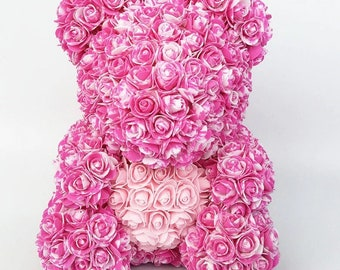 Artificial & Dried Flowers Cute Pe Rose Bear Toy Women Girls Flower Birthday Wedding Decoration Party Doll Toy Anniversary Valentine Gift For Girl Friend Evident Effect Festive & Party Supplies