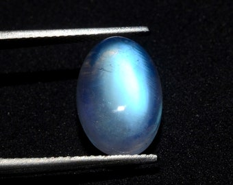 48 Cts Oval Moonstone loose MX-2818 Beautiful~ Natural Rainbow Moonstone Blue Flash Rainbow Moonstone gemstone Rainbow Moonstone Cabochon