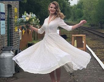 1950 S Vintage Wedding Dresses.1950s Wedding Dress Etsy