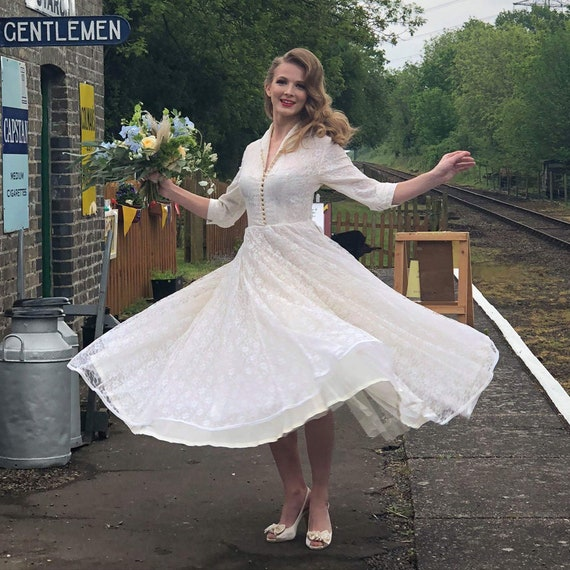 Vintage Wedding Dress | 1950s Wedding Dress