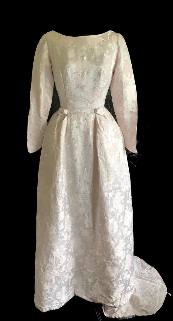 Vintage Wedding Dress   1960s Wedding Dress   Blus