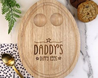 Egg Breakfast Board Gift Personalised Daddys Little Soldiers Dippy Eggs