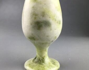China handmade jade carving natural white Jade wine cup A pair