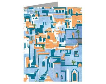 Impressions of India, Art Card, Linocut Card, Greeting Card, Lino cut Print
