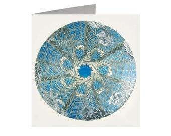 Glasshouse Kaleidoscope, Art Card, Linocut, Linocut print