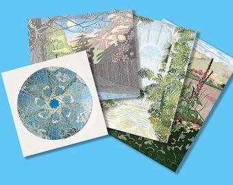 Pack of Art Cards, Linocut, Printmaking,