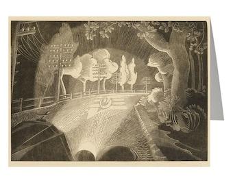 Through the Windscreen, Fine art card, wood engraving print