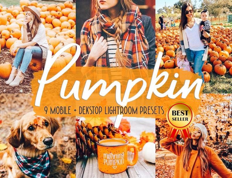 9 Pumpkin presets Mobile presets Fall presets Fall season image 0