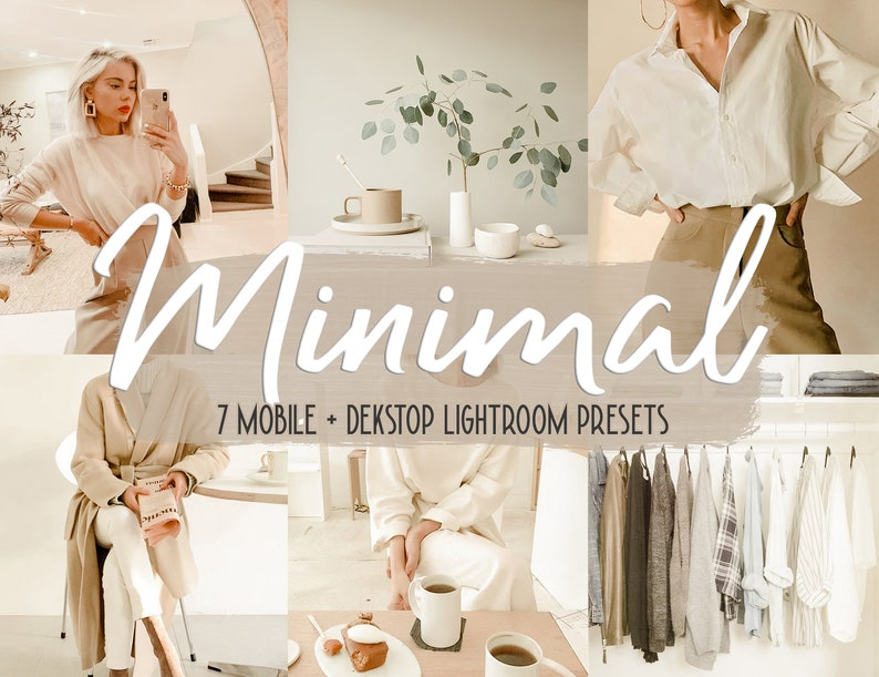 7 Minimal Presets for Mobile Adobe Lightroom Moody Blogger image 0