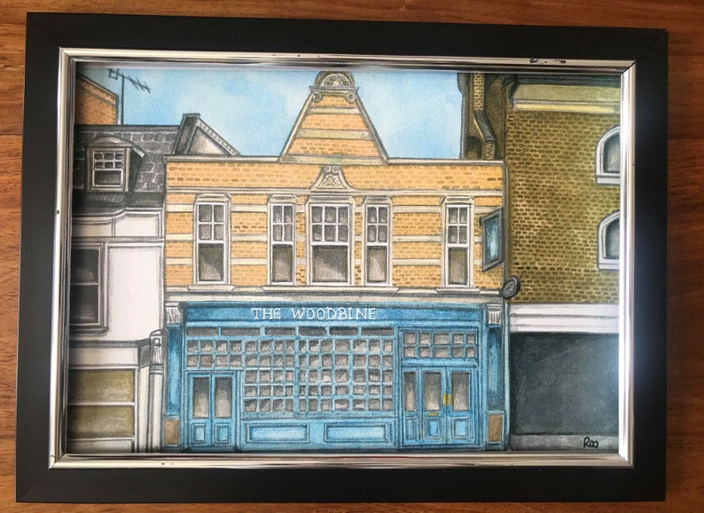 THE WOODBINE PUB- Islington Painted in Watercolour Series by Ruth Beck