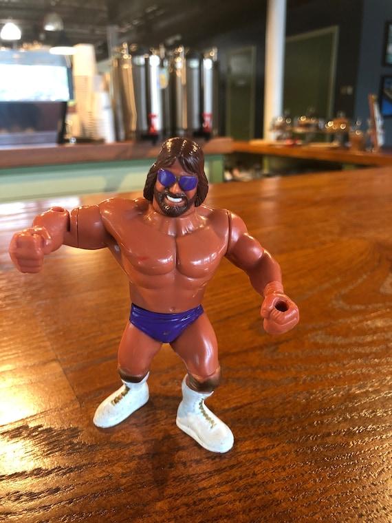 WWF HASBRO Personalizado Macho Man corona y cetro lucha Libre Figuras WWE