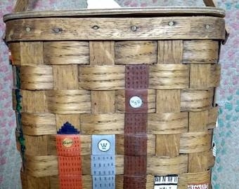 Basketville Hand Painted Basket Purse Pittsburgh, PA. Buildings