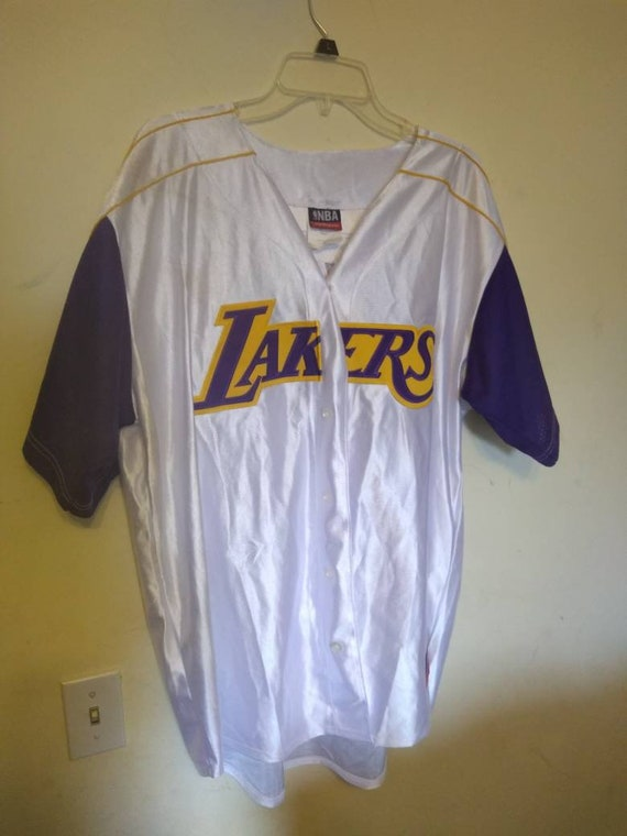 official photos 53a28 d0493 Majestic Lakers #8 Kobe white short sleeve jersey size xl