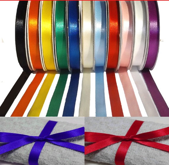 20 Metres top quality double sided satin ribbon 10mm