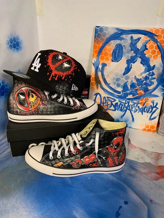Custom Deadpool Chuck Taylors